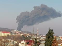 VIDEO&FOTO: Bubuitura urmata de aparitia unui nor imens de fum in Copou