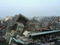 VIDEO FOTO Cutremur de 6,4 grade in Taiwan. Zeci de cladiri s-au prabusit!