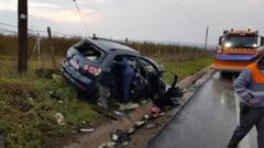 VIDEO/FOTO O familie din Pascani, accidentata in drum spre Iasi la ziua fiului