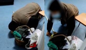 """VIDEO Imagini cutremuratoare cu un batran cazut pe holul unui spital care cere ajutor cadrelor medicale. """"Doamnele infirmiere nu au miscat un deget"""""""