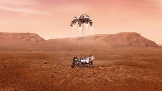 """VIDEO Imagini istorice. Roverul Perseverance, lansat de NASA, a atins suprafata planetei Marte: """"Sunt in siguranta pe Marte"""""""