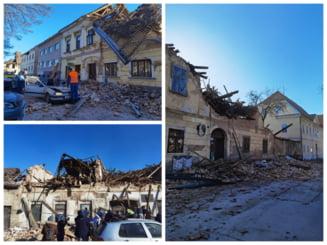 VIDEO Imagini sinistre de la cutremurul devastator din Croatia. Jumatate din orasul Petrijna a fost distrus