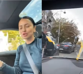 VIDEO Incident pe o strada din Constanta. Un afacerist local a fost amendat pentru ca a aruncat cu oua intr-o masina. Ce a urmat dupa