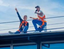 """VIDEO Interviu de la balcon cu Simona Halep: """"Sunt putin plictisita"""". Jurnalistii s-au urcat pe acoperisul unei cladiri"""