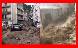 VIDEO Inundatii apocaliptice in Sardinia. Cel putin trei morti si o persoana disparuta