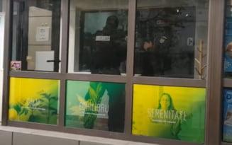 VIDEO Magazin de produse cu concentratie de cannabis din Iasi, perchezitionat de procurori si politisti