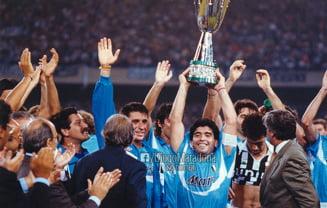 VIDEO Maradona, cel mai bun marcator all-time al lui Napoli. A marcat 115 goluri