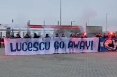 VIDEO Mircea Lucescu n-are liniste la Kiev. Protest de amploare al fanilor lui Dinamo