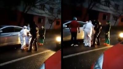 VIDEO Pacient bolnav de COVID-19, fugit din spital, la Drobeta Turnu Severin. Medicii l-au prins si l-au dus inapoi