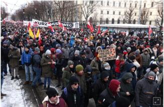 VIDEO Politia austriaca a arestat 23 de persoane in urma protestului anti-lockdown. Alte 300 de persoane sunt cercetate penal