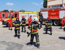 VIDEO Pompierii se antreneaza in pasi de dans. Jerusalema Challenge, la ISU Timis
