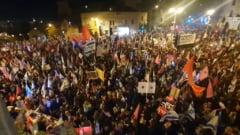 VIDEO Proteste in Israel impotriva premierului Netanyahu cu trei zile inaintea alegerilor
