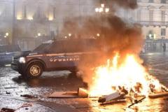 VIDEO Proteste violente in Italia, dupa ce au fost impuse noi restrictii in contextul crizei sanitare