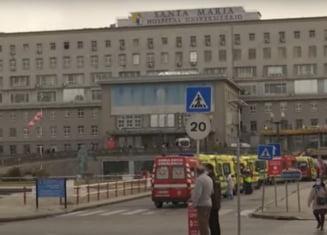 """VIDEO Situatia """"groaznica"""" in Portugalia, din cauza pandemiei. Cozi de ambulante la cel mai mare spital, sistemul de ajutor cu oxigen ar putea ceda"""