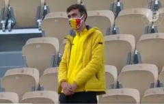VIDEO Super-fanul care o sustine pe Simona Halep din tribune la Roland-Garros. Reactia tenismenei