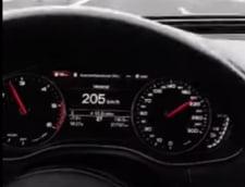 """VIDEO Teribilism pe autostrada A1, transmisie """"in direct"""" la peste 230 de kilometri la ora"""