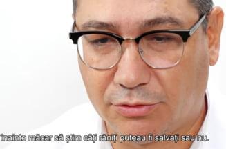 """VIDEO Victor Ponta se victimizeaza si lacrimeaza intr-un videoclip postat la 5 ani de la Colectiv: """"A fost cea mai urata si lunga noapte din viata mea"""""""