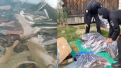 VIDEO Zeci de arme letale si peste o mie de cartuse, descoperite de politie in urma unor descinderi in Maramures si Bistrita-Nasaud. Sapte persoane au fost retinute