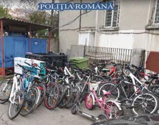 VIDEO Zeci de biciclete furate au fost gasite la doi hoti din Sectorul 3. Care era modul de operare