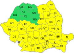 VINE ZAPADA: Cod galben de ninsori pentru judetul Arad!