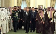 Valdimir Putin, primit cu salve de tun in Arabia Saudita: Pretul petrolului si conflictele din zona, pe agenda (Video)