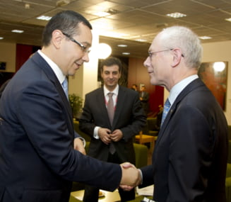 Van Rompuy, ingrijorat de situatia politica din Romania, dupa intalnirea cu Ponta