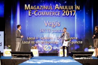 Vegis.ro a primit premiul pentru cel mai bun magazin online din comertul electronic autohton