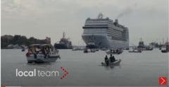 Venetia si-a redeschis laguna pentru navele de croaziera dupa 17 luni de pandemie VIDEO