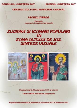 """Vernisaj la Muzeul Judetean Olt: """"Zugravi si iconari populari in zona Oltului de jos, sinteze vizuale"""""""
