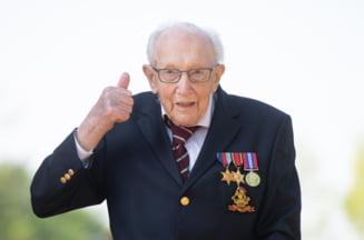 Veteranul britanic Tom Moore a murit de COVID. Capitanul in rezerva stransese 33 de milioane de lire sterline pentru angajatii din prima linie