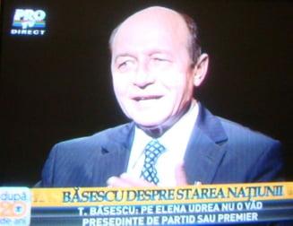 Vezi lista prezidentiabililor lui Basescu. Udrea, exclusa din orice functie inalta