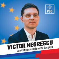 Victor Negrescu, candidat PSD la alegerile europarlamentare: Prioritatea in viitorul Parlament European trebuie sa fie alocarea de fonduri suplimentare Romaniei