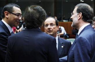 Victor Ponta se intalneste cu Francois Hollande, in Franta