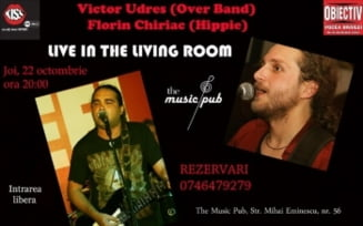 Victor Udres si Florin Chiriac, *Live in the living room* la Music Pub