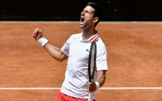 Victorie de pus in rama pentru Novak Djokovic la Roma. Meciul s-a intins pe doua zile, iar sarbul a intors miraculos scorul