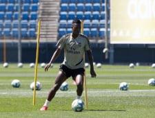Vinicius de la Real Madrid nu s-a antrenat joi dimineata din cauza unei erori la testul pentru coronavirus