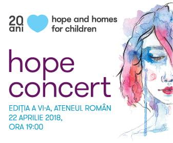 Vino la Hope Concert, editia a VI-a, la Ateneul Roman!