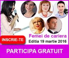 Vino sa intalnesti speakerii conferintei Femei de cariera