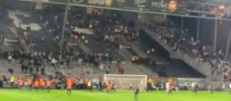 Violențe extreme în fotbalul francez. O nouă etapă presărată cu incidente grave VIDEO