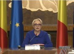 Viorica Dancila, in prima sedinta dupa caderea Guvernului: PNL si Iohannis sa-si asume majorarile de salarii si pensii