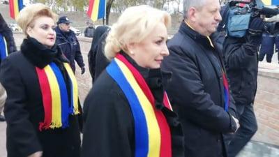Viorica Dancila si ministrii sai au fost huiduiti la Alba Iulia (Video)