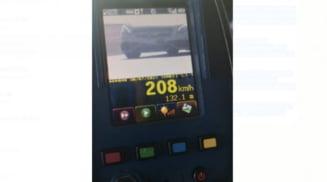 Vitezoman prins cu 208 kilometri la ora pe DN 65 - E 574, in afara orasului Scornicesti