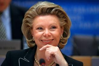 Viviane Reding: Criza politica ameninta sansele Romaniei de a adera la Schengen