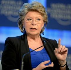 Viviane Reding: Romania si Bulgaria indeplinesc criteriile pentru Schengen