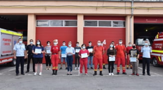 Voluntarii de la ISU Olt au obtinut certificatul de absolvire a cursului de prim ajutor de baza