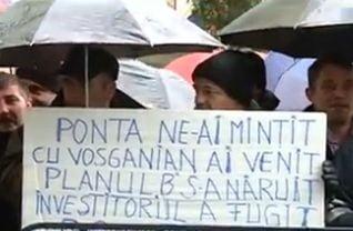 Vosganian ii cheama luni la Bucuresti pe grevistii foamei de la Oltchim