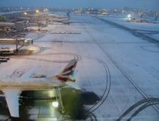 Zapada a paralizat traficul aerian din Europa