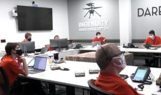 """Zborul minielicopterului Ingenuity, trimis de NASA pe Marte, inregistrat pentru prima data audio: """"Putinul care se aude este o surpriza foarte placuta"""""""