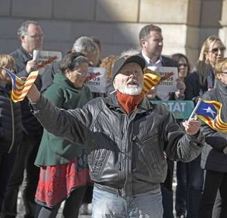 Zeci de mii de separatisti catalani au protestat la Bruxelles