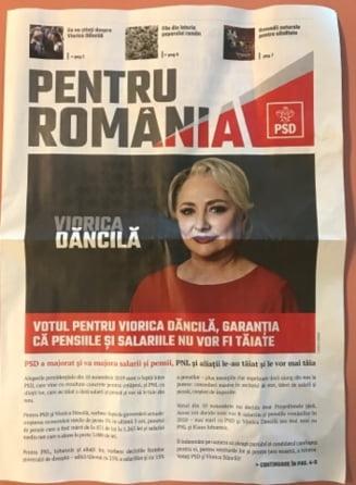 Ziarul de propaganda al Vioricai Dancila contine bancuri cu ea insasi si articole despre Traian, ovaz si bulion